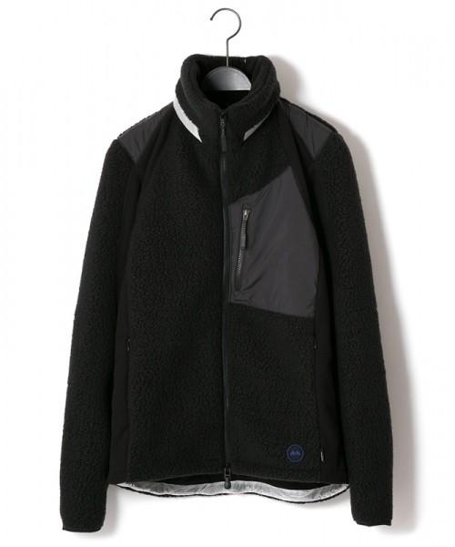 MofM(man of moods/マンオブムーズ) Middle Layered Polartec Classic 300 Fleece L3 J  BLK/GRY/WHT  M