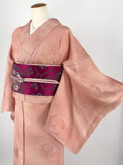 小紋 袷着物 着物 きもの カジュアル着物 仕立て上がり 送料無料 リサイクル着物 中古 身丈162cm 裄丈66cm