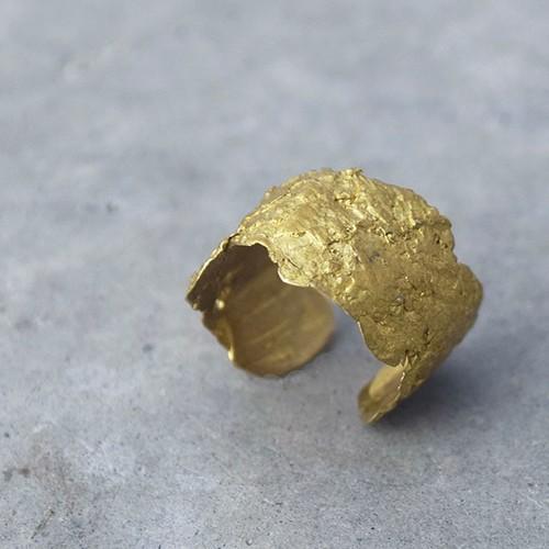 山桜の樹皮リング(M)brass