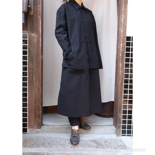 THE HINOKI コットン馬布シャツドレス#TH19S-2ブラック