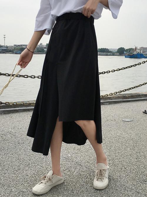 アシメシンプルロングスカート