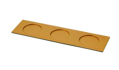 30cmゴールド塗3ツ穴トレー(大)