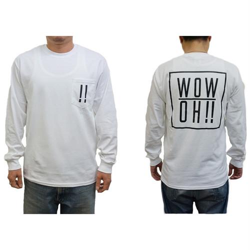 【wow OH!!】ワオ!!  L/S Tシャツ White wow-8 ※こちらの商品は受注生産品となります※