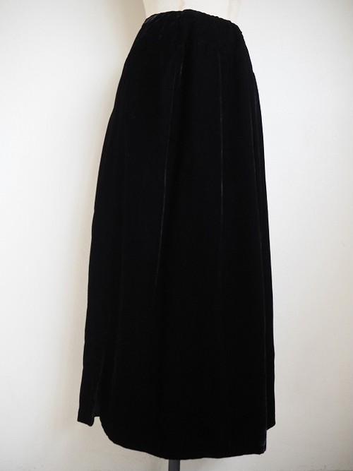 【フランス】 ヴィンテージベロアスカート [ブラック]