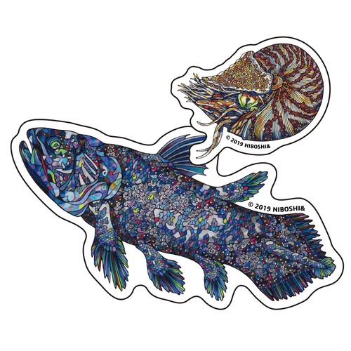 【ステッカー】深海古代魚【2枚セット】