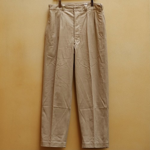 OLD FRENCH ARMY CHINO PANTS DEAD STOCK - 3
