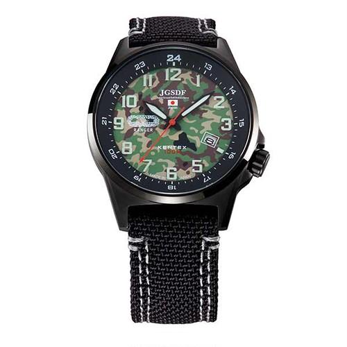 ケンテックス KENTEX 腕時計 メンズ S715M-08 スカイマンパイロットアルファ SKYMAN PILOT ALPHA クォーツ 迷彩柄 ブラック 国内正規品