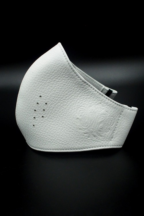 Item No.0397:RH Smooth Back Leather Surgical Mask/Atelier mark/7WHITE