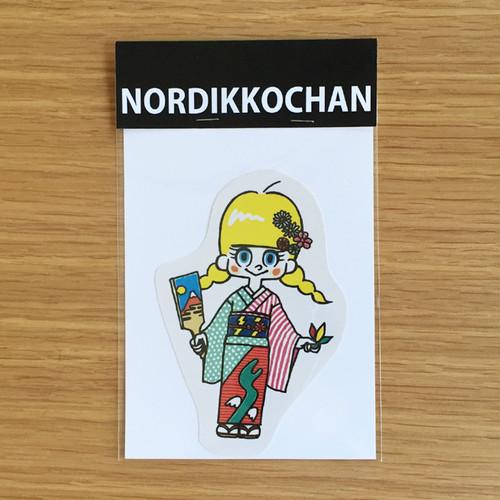 ノルディッコちゃんシール2枚セット(着物、鬼)