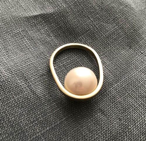 pearl ring (PeR-3) brass 18号