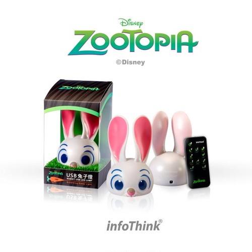 InfoThink ルームライト Disney ズートピア 2.6W 120ルーメン USB給電 リモコン付属 ジュディ・ホップス LIGHT-100 (RABBIT)