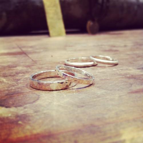 純銀製 手作りのリング