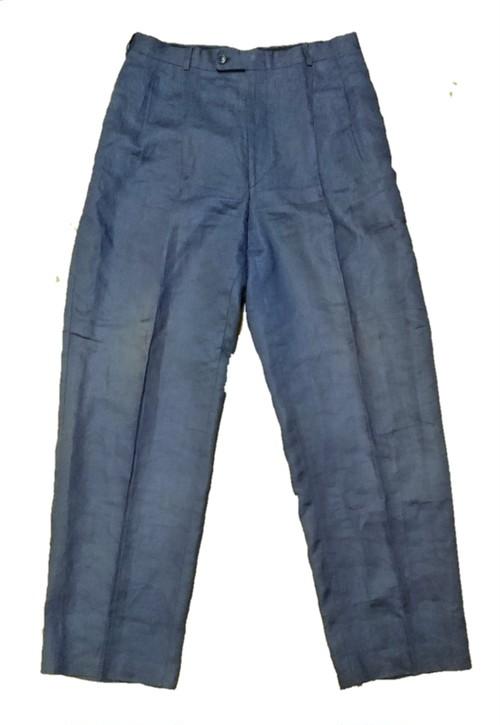 80's linen wide slacks
