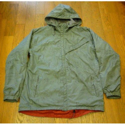 【送料無料】 STUSSY FITNESSの古着フード付きナイロンジャケット