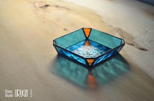 ステンドグラス 小物入れ 009(現在ガラス欠品のため制作出来ません)