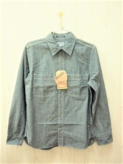 Houston USA Chambray Work Shirt (ヒューストン USAシャンブレー ワークシャツ) Made In Japan