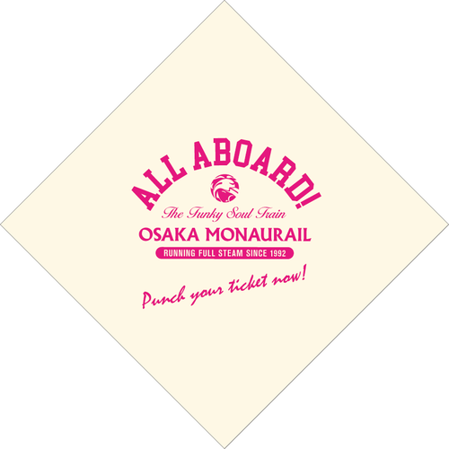 【GOODS】ALL ABOARD! バンダナ