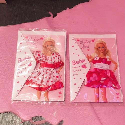 90s valentine barbie card