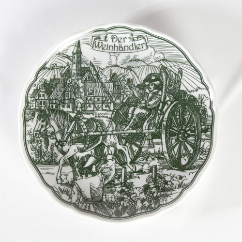 HUTSCHEN REUTHER 社「ワインの商人」飾り皿