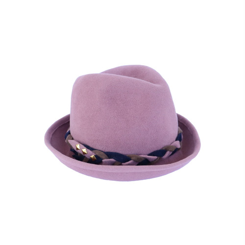 hntbk RRFW1928 rabbit fur felt HAT (LIGHT PINK)