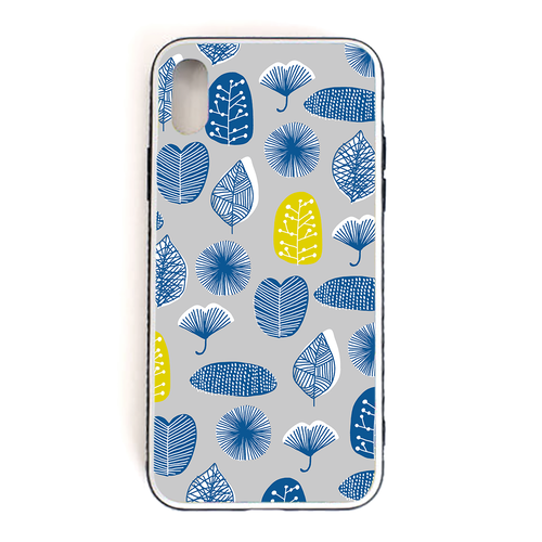 【Leaves】 強化ガラス仕上げ phone case (iPhone)
