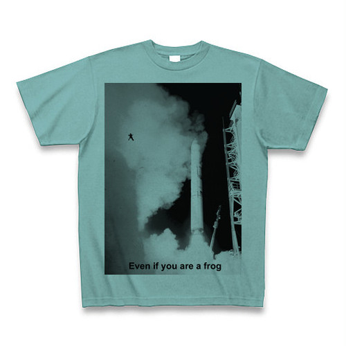 小野道風を励ましたカエルが今度は月を目指してジャンプしているTシャツ