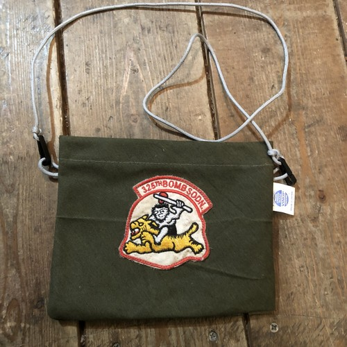 Vintage Tent Cloth Sacoche with patch, 325th