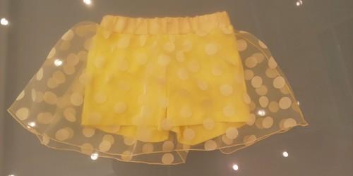 SpecialDay パンツ付きドットチュールスカート(イエロー) 8~10才