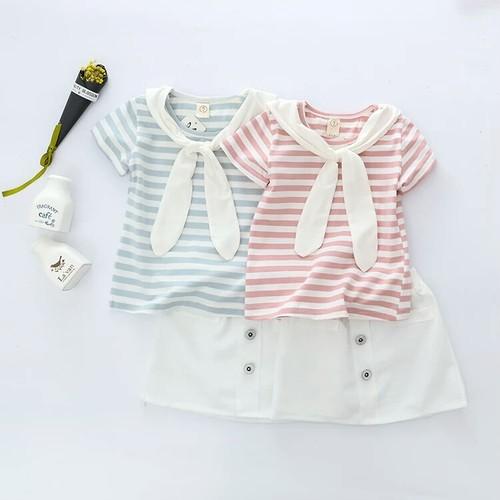 セーラーTシャツ×フロントボタンスカートセット【538】