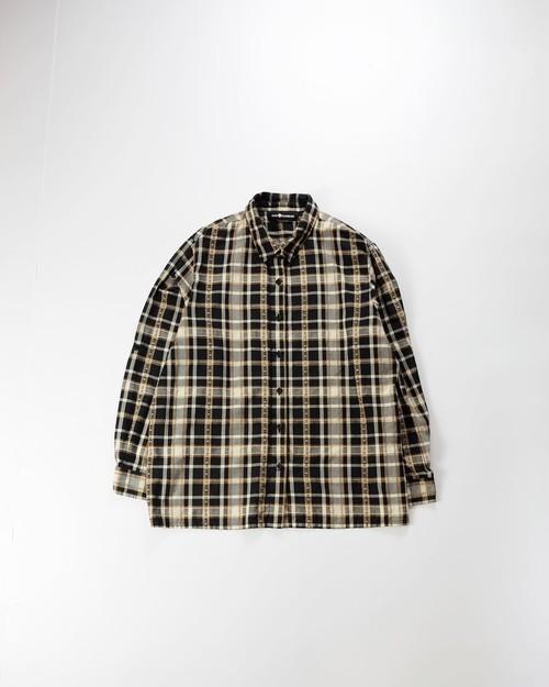 embroidery plaid shirt