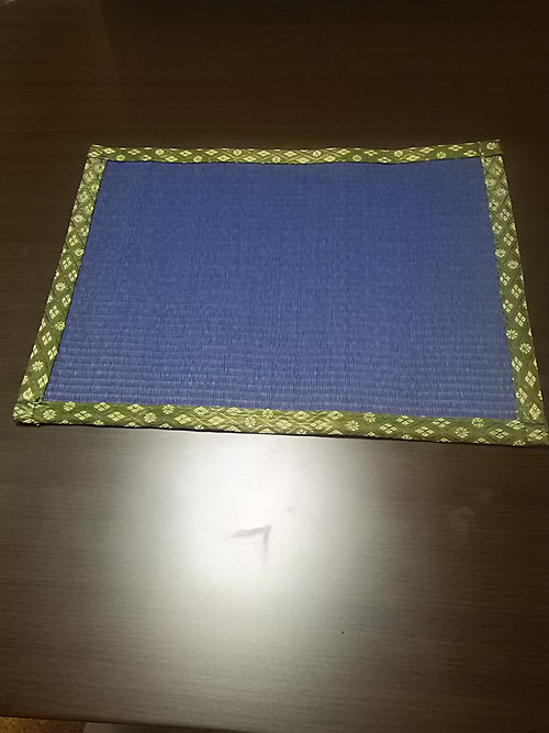 たたみランチョンマット藍色(耐水性)樹脂加工カラー表