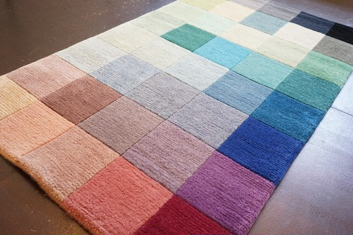 40 COLOR-BLOCK HANDMADE FLOOR RUG