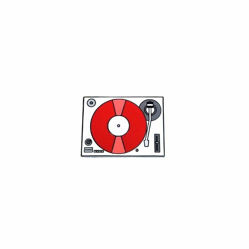 """OTHER WORLD""""Record Player / Turntable (Red) lapel pin"""""""
