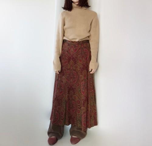 paisley-print skirt
