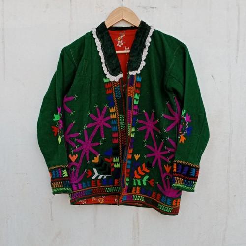 Vintage タジキスタン 刺繍のショートジャケット