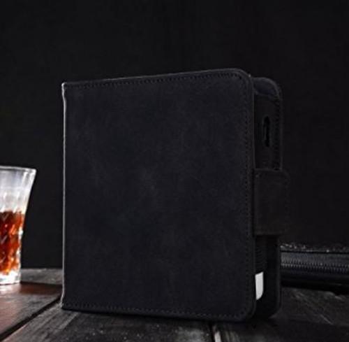 【ブラック】iQOSケース アイコス 保護 高品質PUレザー カバー 2.4plus対応 電子たばこ 収納ケース カードケース付き zbea005