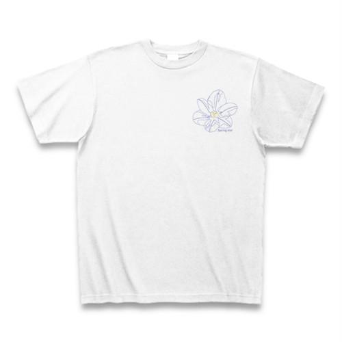 ハナニラ フラワーイラストTシャツ ワンポイント