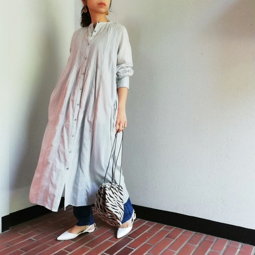 THIS IS MY HAPPY THINGS (Cotton Voile×Leverse Laceシャツワンピース)