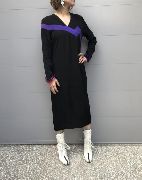 Vintage black rayon dress (ヴィンテージ ブラック レーヨン ドレス)