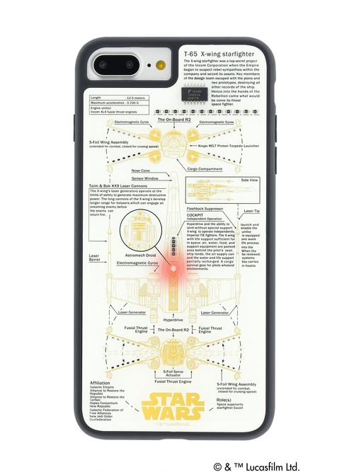 FLASH X-WING 基板アート iPhone7/8Plus ケース 白 【東京回路線図ピンズをプレゼント】