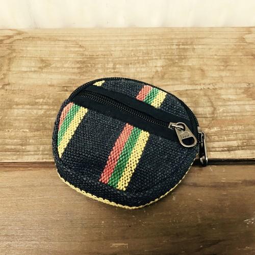 ネパール 小物入れ 伝統織り ゲリ生地