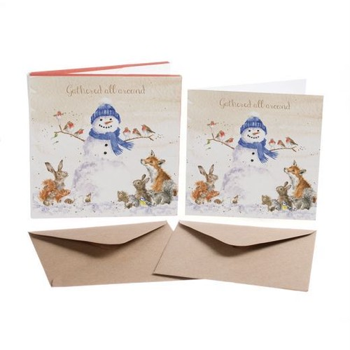 XB026 クリスマスカード・セット/森のどうぶつたち