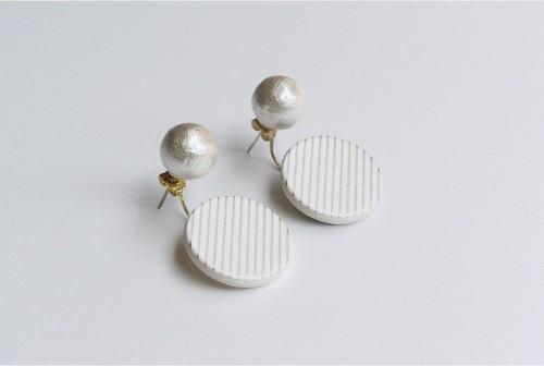 ○PIERCE / EARRING【WHITE】