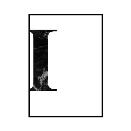 """I"" 黒大理石 - Black marble - ALPHAシリーズ [SD-000510] B4サイズ フレームセット"