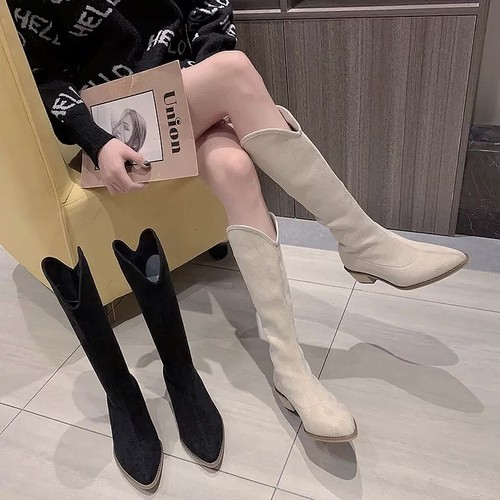 V cut boots 2color