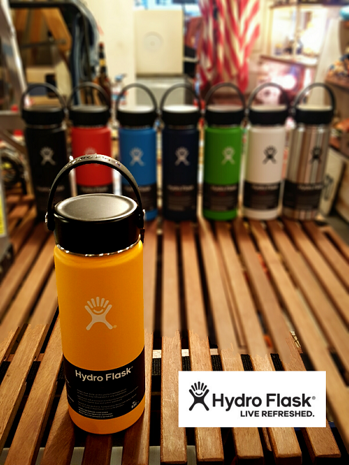 HydroFlask ハイドロフラスク 18oz ワイドマウス 日本初上陸!アメリカで一番人気の携帯用ボトル