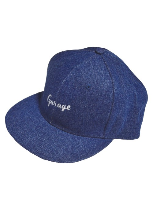 DENIM FLAT VISOR CAP  D.Blue