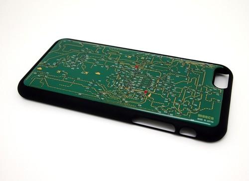 関西回路線図 for HRKS(LED2個実装) iphone6/6s  case 緑【LEDは光りません】【東京回路線図A5クリアファイルをプレゼント】