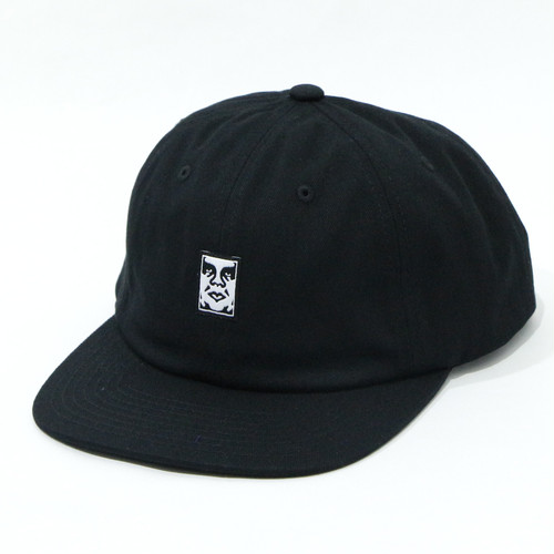 【OBEY】ICON FACE 6 PANEL STRAPBACK (BLACK)