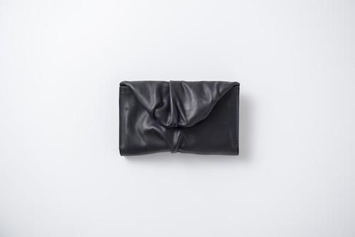 SIWA:leather wallet-mini. black